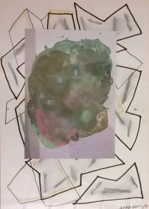Luis Gordillo, 'UNTITLED', 2010, Drawing, Collage or other Work on Paper, Mixed media on paper, Aurora Vigil-Escalera Art Gallery