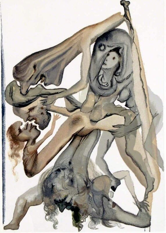 Salvador Dalí, 'Hell Canto 11 (The Divine Comedy)', Print, Wood engraving, Martin Lawrence Galleries