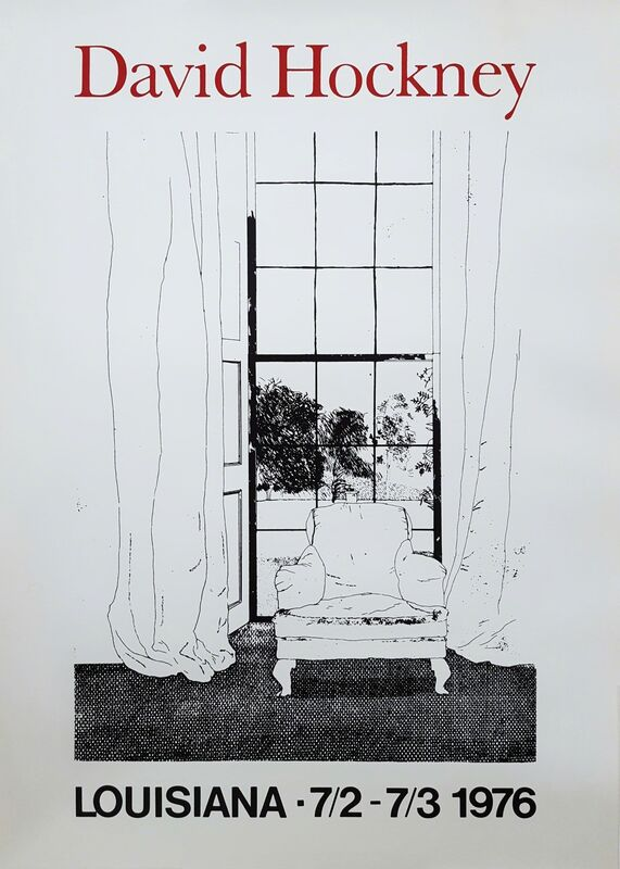 David Hockney, 'Home, from 'Grimm's Fairy Tales', 1976, Print, Lithograph, Exhibition Poster, Graves International Art