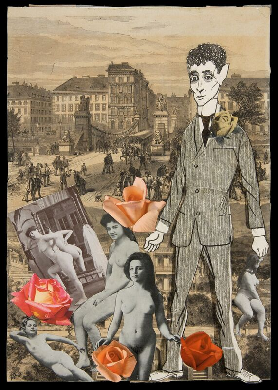 Adolf Hoffmeister, 'Kafka', 1967, Drawing, Collage or other Work on Paper, Indian Ink and Collage on paper, Galerie Le Minotaure