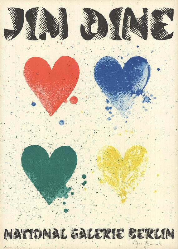 Jim Dine, 'Four Hearts', 1971, Ephemera or Merchandise, Stone Lithograph, ArtWise