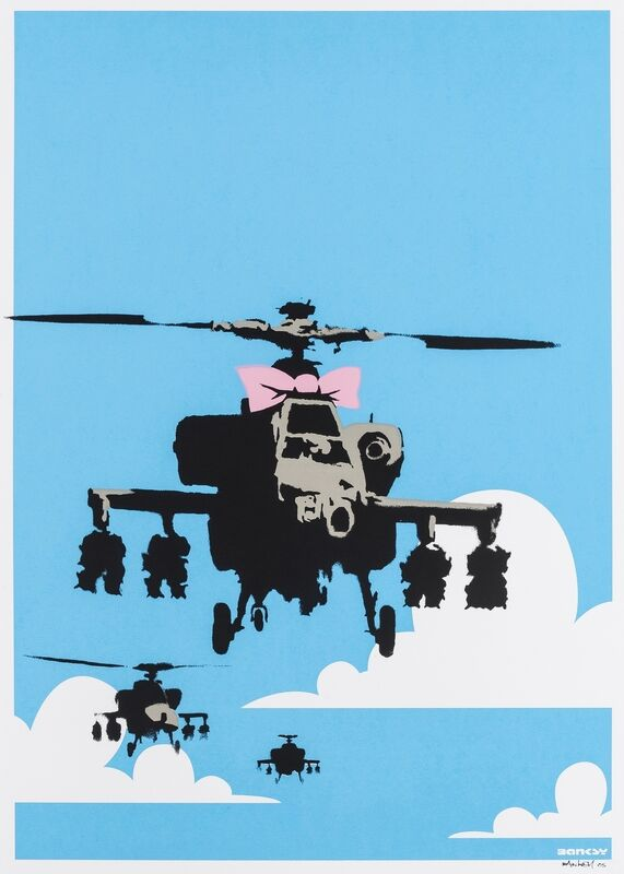 Banksy, 'Happy Choppers', 2003, Print, Screenprint in colours, Forum Auctions