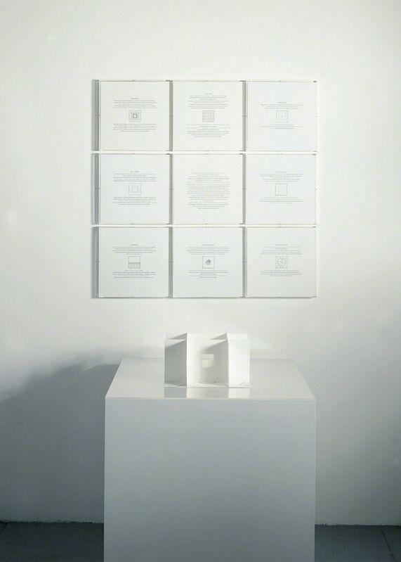 Giulio Paolini, 'Le Chiavi del museo', 2004, Danilo Montanari Editore, Ravenna, con un testo dell'autore, 9 moduli a parete litografati e una struttura di base in cartoncino fustellato e serigrafato, 32 + XVI esemplari f. e n., Danilo Montanari Editore