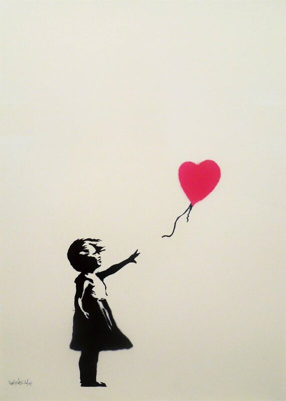 Banksy, 'Girl with balloon', 2004, Print, Gallery 211