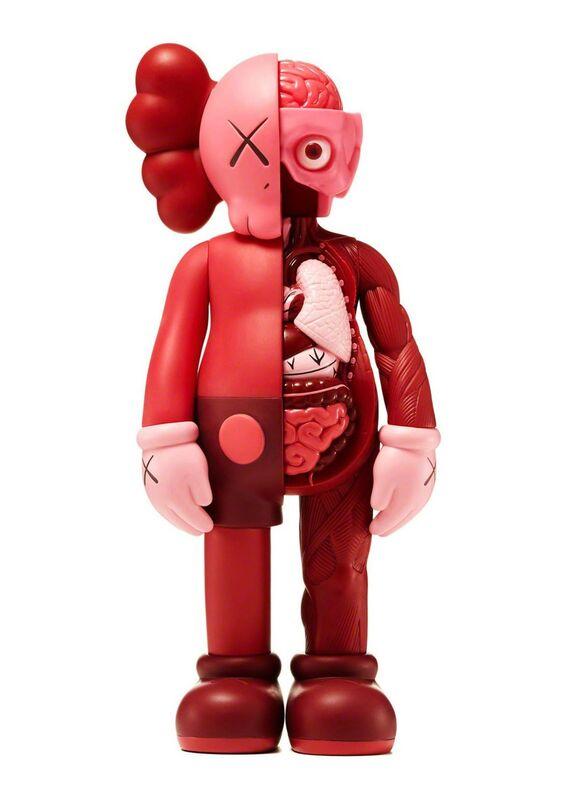 KAWS, 'KAWS Red Blush companions (complete set of 2)', 2016, Sculpture, Vinyl paint, cast resin, Lot 180