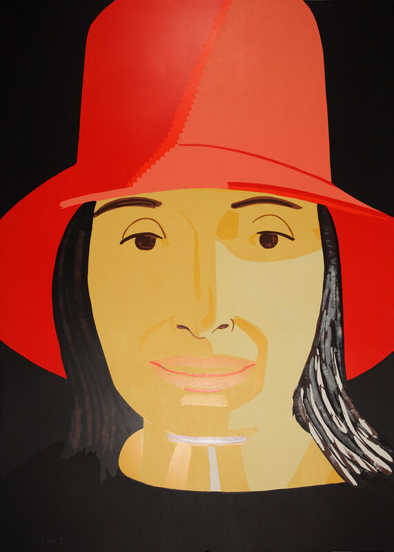 Alex Katz, 'Red Hat Ada', 2015, Print, Woodcut in colours, Galerie Boisseree