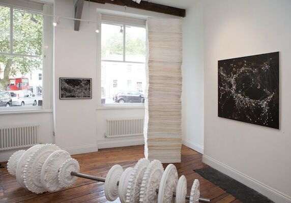 Julian Page at London Original Print Fair 2016, installation view
