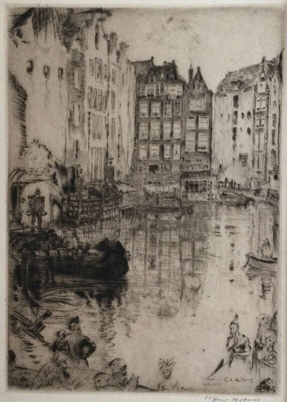 Clifford Isaac Addams, 'Admiral's House, Amsterdam', 1902, Print, Etching and drypoint, Private Collection, NY