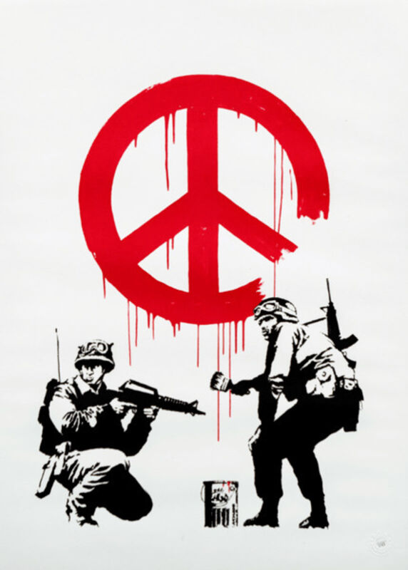 Banksy, 'CND Soldiers', 2005, Print, Screenprint in colors on wove paper with full margins, MoonStar Fine Arts Advisors