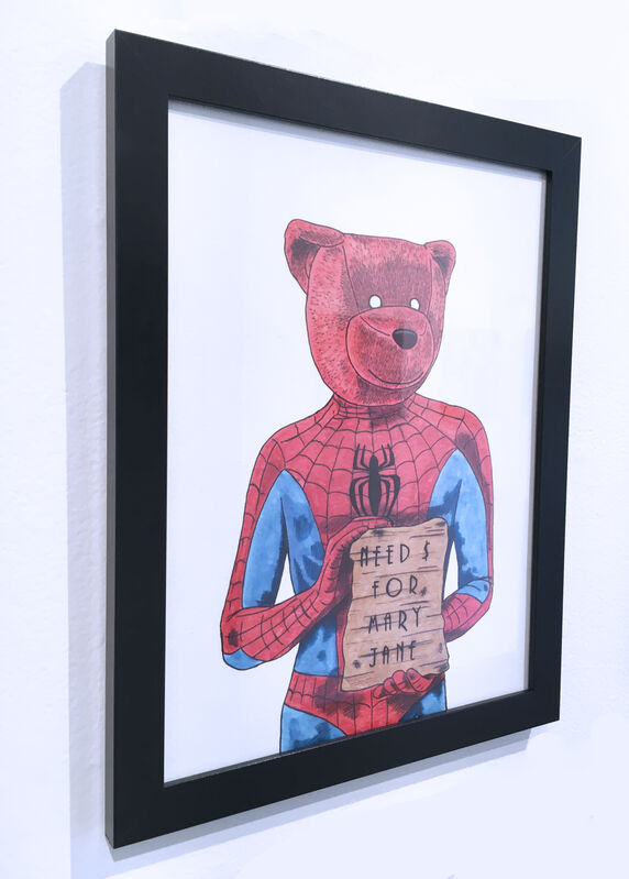 Sean 9 Lugo, 'Need $ For Mary Jane', 2019, Drawing, Collage or other Work on Paper, Marker and ink on Bristol paper, framed, Deep Space Gallery