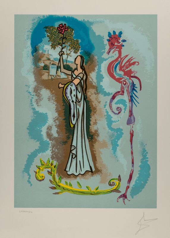 Salvador Dalí, 'Rowena, from Ivanhoe', 1978, Print, Lithograph in colors on Arches paper, Heritage Auctions