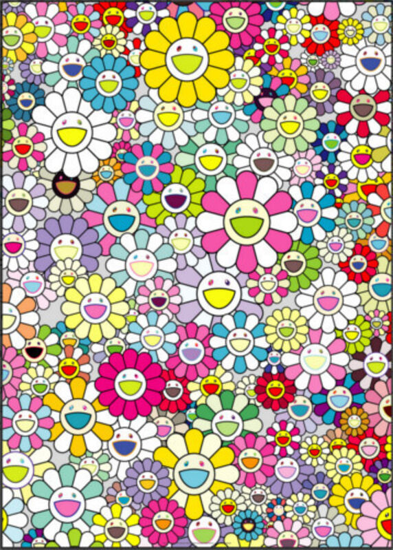 Takashi Murakami, 'Shangri-La Shangri-La Multicolor', ca. 2018, Other, Offset lithograph and cold stamp on paper, New River Fine Art