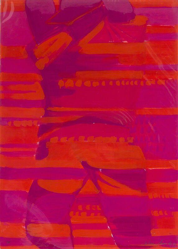 Titina Maselli, 'Athlete', 1981, Painting, Acrylic on cardboard, Bertolami Fine Arts