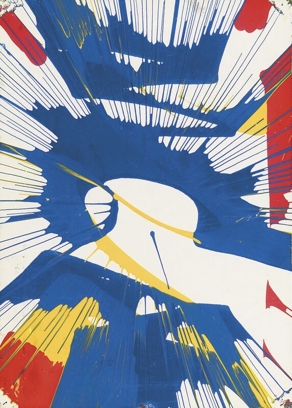 Damien Hirst, 'Untitled (Spin)', 1993, Drawing, Collage or other Work on Paper, Acrylic on paper, Omer Tiroche Gallery