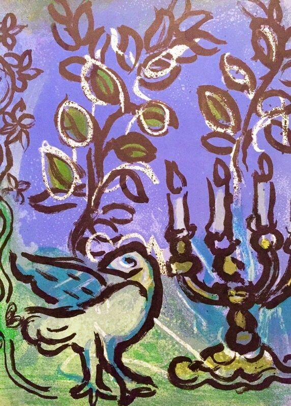 Marc Chagall, 'Jerusalem Windows - Candlestick', 1962, Print, Lithograph, Hidden