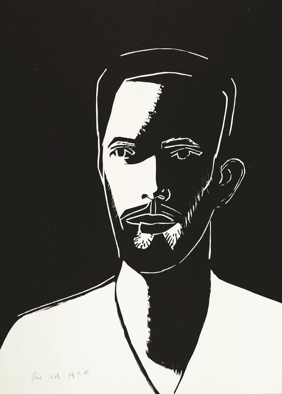 Alex Katz, 'Daniel (Black & White)', 2016, Print, 1-color woodcut, Meyerovich Gallery