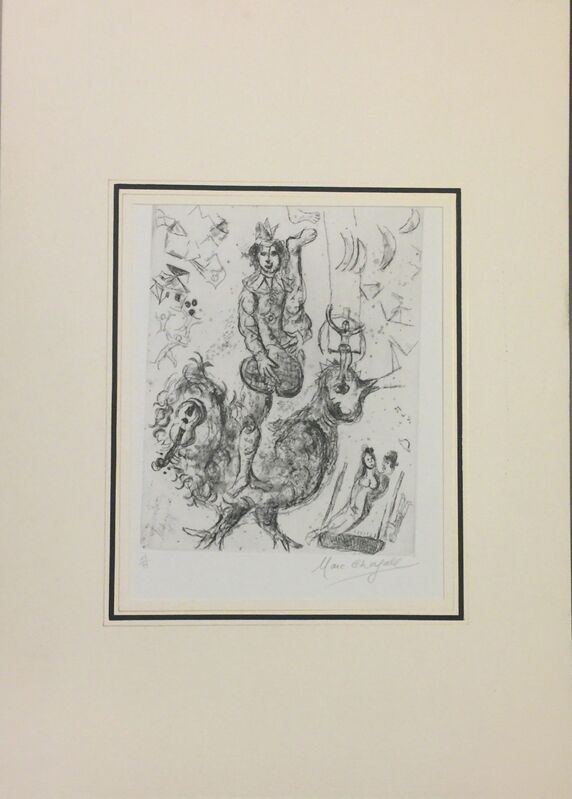 Marc Chagall, 'Le Clown Acrobate', 1967, Print, Etching, Wallector