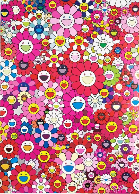 Takashi Murakami, 'An Homage to Monopink, 1960 A', 2012, Print, Offset print with cold stamp, Lougher Contemporary