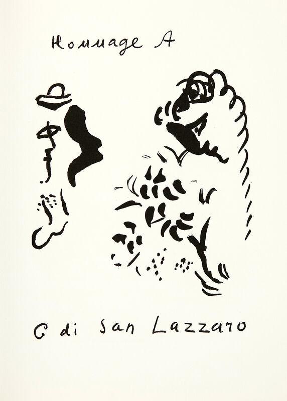 Marc Chagall, 'Hommage à San Lazzaro', 1975, Print, Original lithograph on wove paper, Samhart Gallery
