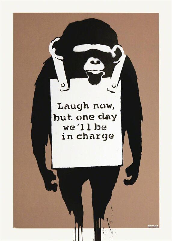 Banksy, 'Laugh Now', 2003, Print, Screenprint on paper, The Drang Gallery