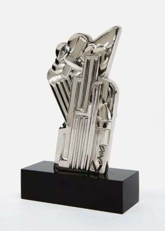 Roy Lichtenstein, 'Salute to Airmail (Chromium)', 1968, Sculpture, Gold plated bronze composite base, Art Commerce