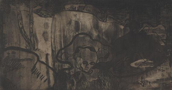 Armand Séguin, 'Décoration de Bretagne - Bretonnes au Bord de la Mer (Breton Decoration - Breton Women by the Sea)', ca. 1894