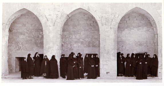 Shirin Neshat, 'Solilioqy Series (Veiled women in three arches)', 1999