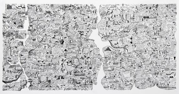 Öyvind Fahlström, 'Sketch for World Map from the Peace Portfolio', 1972