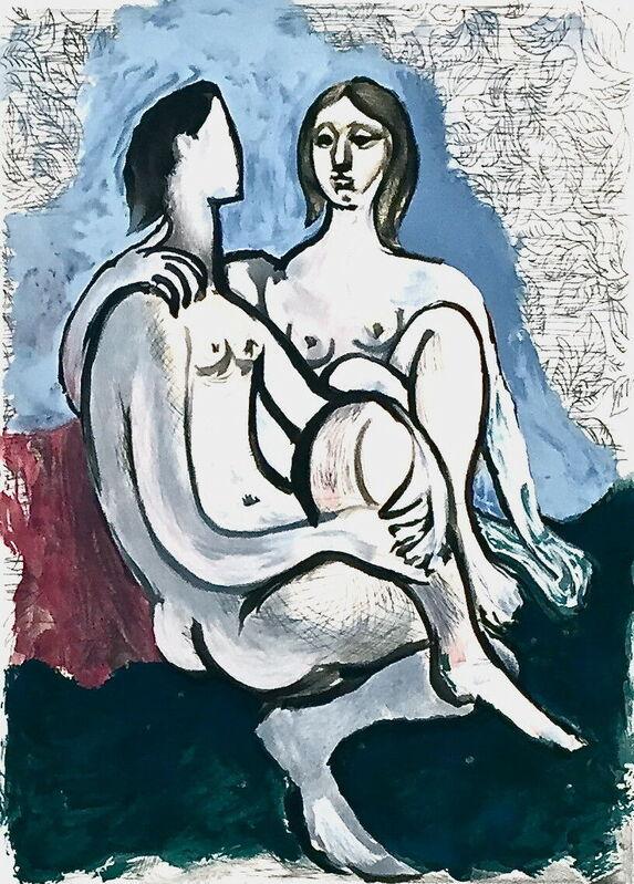 Pablo Picasso, 'La Couple', 1982, Reproduction, Lithograph on Arches paper, Art Commerce