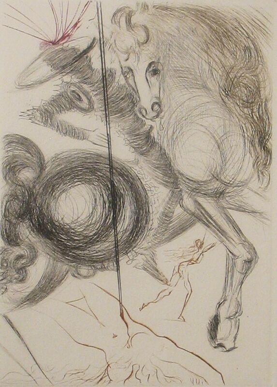 Salvador Dalí, 'L'enfer des Beautes Crueles', 1972, Print, Drypoint printed in color, DTR Modern Galleries