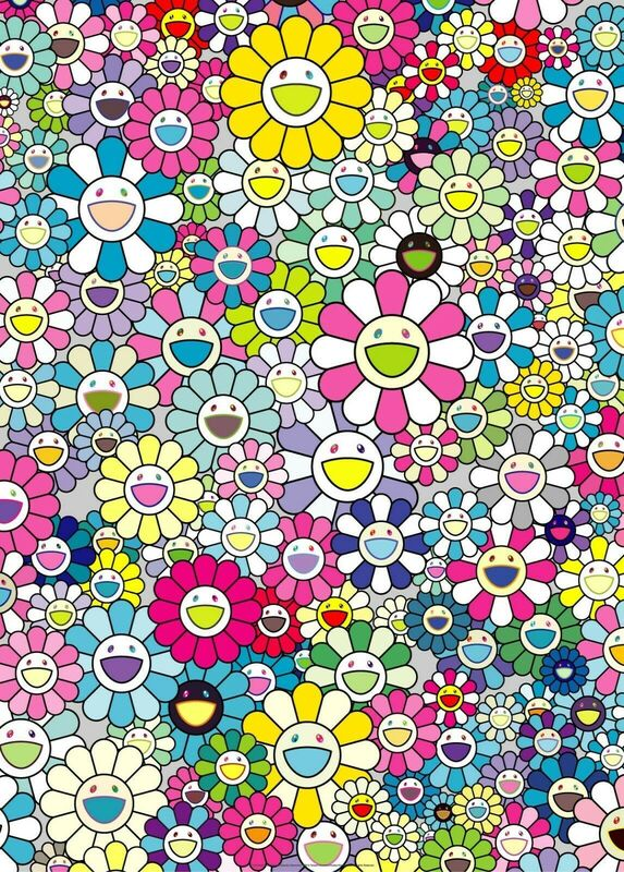 Takashi Murakami, 'I Look Back and There, My Beautiful Memories', 2018, Print, Offset print with silver, Pinto Gallery