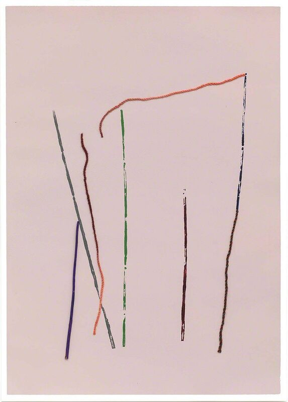 Georgie Hopton, 'Temple (i) ', 2013, Drawing, Collage or other Work on Paper, Acrylic, stick and wool on painted paper, Lyndsey Ingram