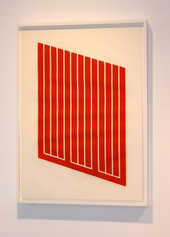 Donald Judd, 'Untitled (#59)', 1961-1969, Print, Woodcut printed in cadmium red on paper, Carolina Nitsch Contemporary Art