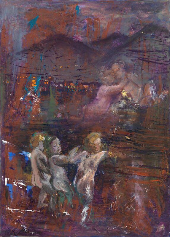 Amelie von Wulffen, 'Untitled (the children from Lake Garda)', 2014, Painting, Oil on Canvas, Freedman Fitzpatrick