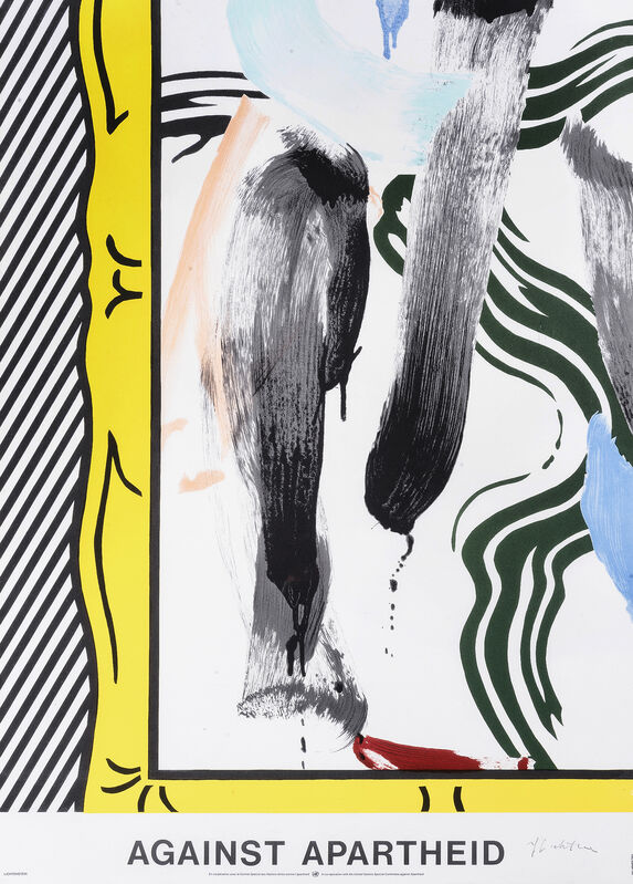 Roy Lichtenstein, 'Against Apartheid', 1983, Print, Offset lithograph in colours on wove paper, Tate Ward Auctions