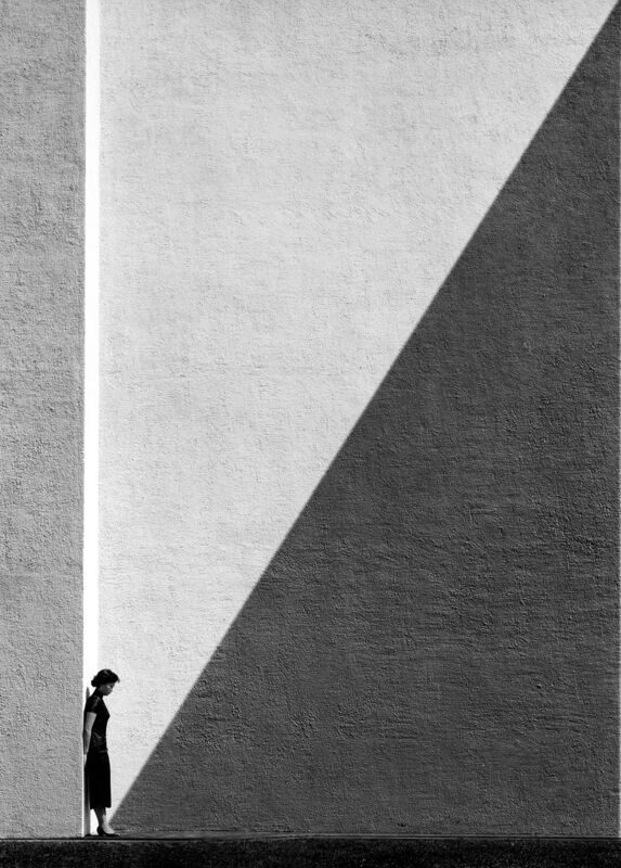 Fan Ho, ''Approaching Shadow' Hong Kong', 1954, Photography, Archival Pigment Print on Fine Art Paper, Blue Lotus Gallery