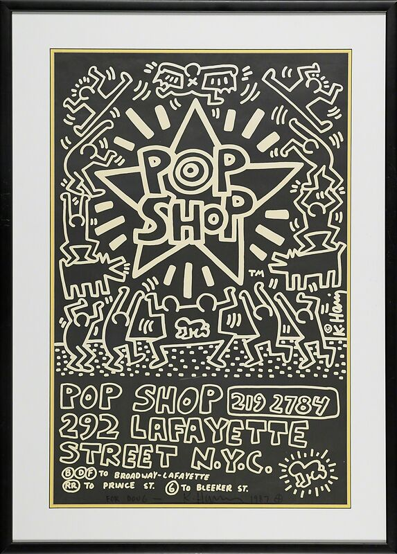 Keith Haring, 'POP SHOP NYC, Advertising Paste-Up', 1985, Print, Offset lithograph poster in colors, Rago/Wright