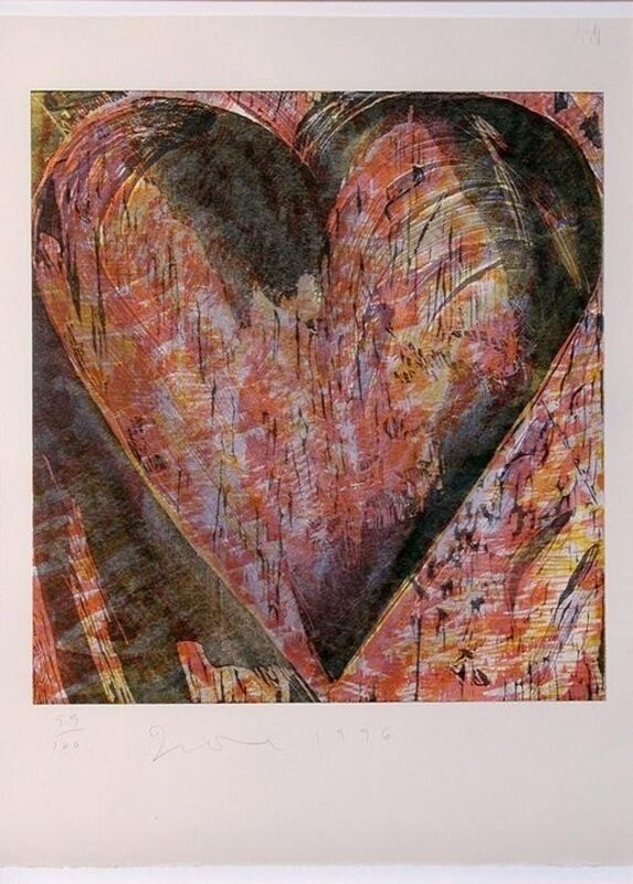 Jim Dine, 'Untitled (Heart of BAM)', 1996, Print, 6-color woodcut on Arches heavy weight buff paper, BAM