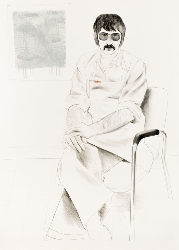 David Hockney, 'The Master Printer of Los Angeles', 1973, Print, Lithograph and screen print on cream Arches paper, Petersburg Press