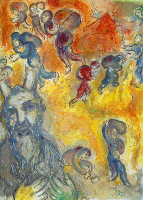 Marc Chagall, 'Moses Sees the Sufferings of His People, The Story Of The Exodus', 1966, Print, Original Lithograph, Inviere Gallery