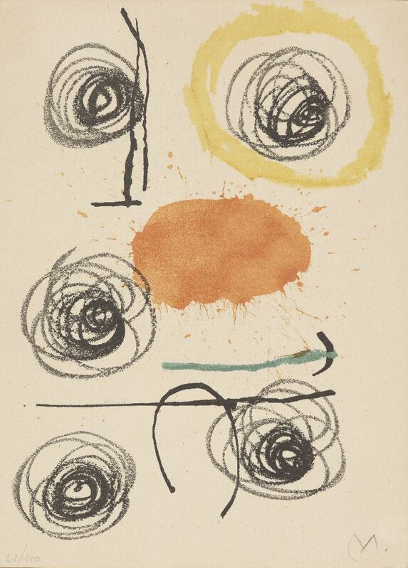 Joan Miró, 'Obra Inedita Recent IV [Mourlot 356]', 1964, Print, Lithograph on Guarro wove, Roseberys