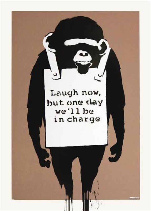 Banksy, 'Laugh Now', 2003, Print, Screen-print in colors on wove paper, MoonStar Fine Arts Advisors