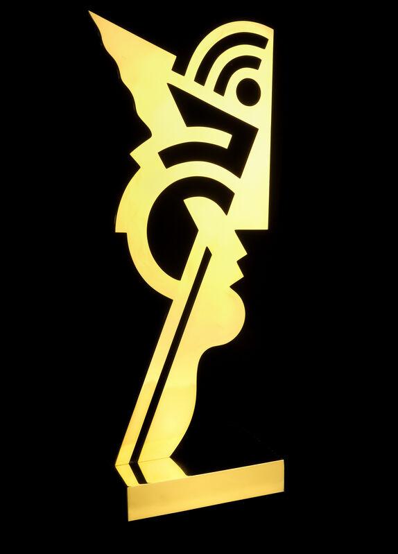 Roy Lichtenstein, 'Untitled Head I', 1970, Sculpture, Polished brass sculpture, Leanne Hull Fine Art, LLC