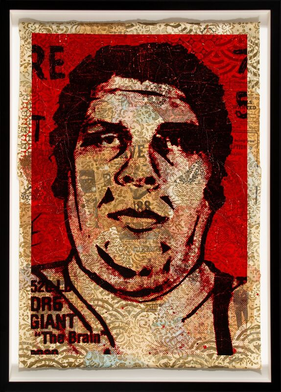 Shepard Fairey, 'Obey '89 (HPM)', 2005, Print, Screenprint in colors and mixed media collage on paper, Heritage Auctions