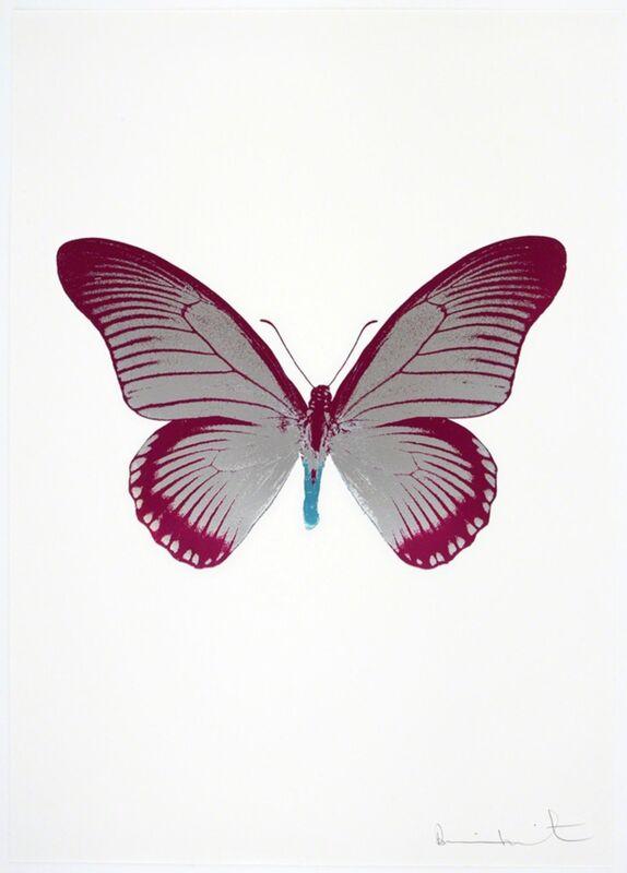 Damien Hirst, 'The Souls IV - Silver Gloss - Fuchsia Pink - Topaz', 2010, Print, Three Colour Foil Block Print, Samuel Owen Gallery
