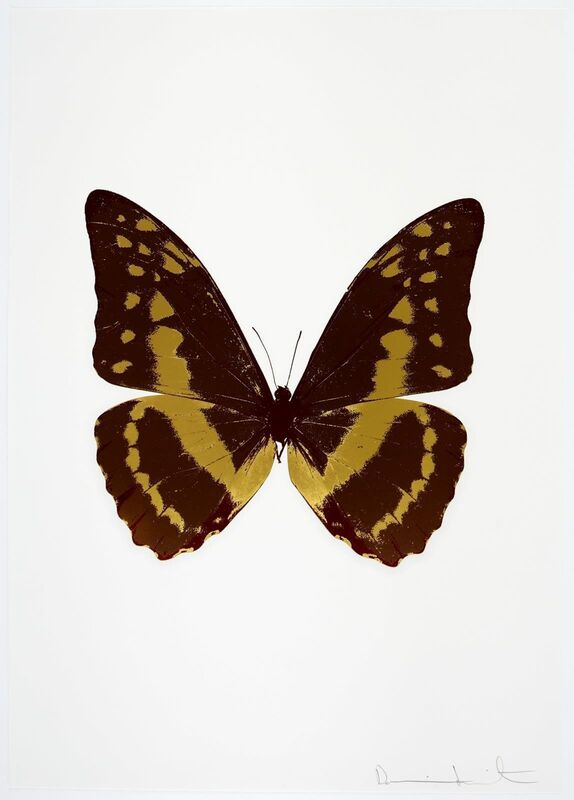 Damien Hirst, 'The Souls III - Chocolate/Oriental Gold/Burgundy', 2010, Print, Colour foil block print on 300gsm Arches paper, Tate Ward Auctions