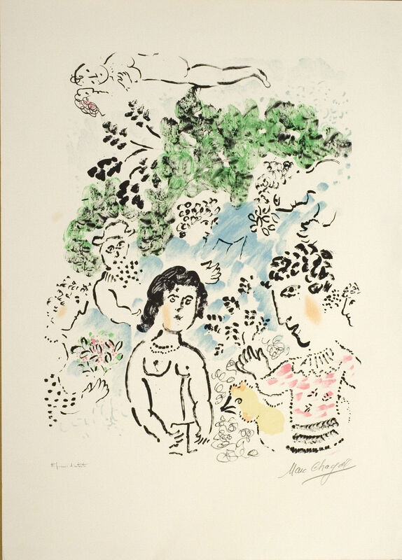 Marc Chagall, 'La branche verte', 1984, Print, Lithograph on Arches paper, Opera Gallery Gallery Auction