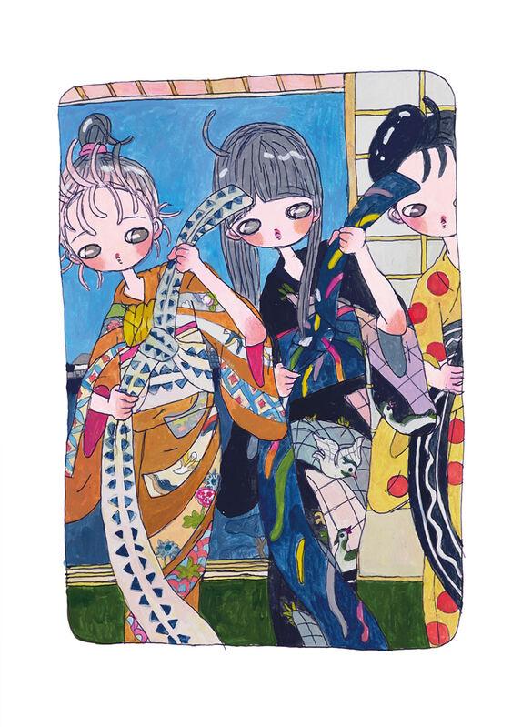 Aya Takano, 'Future Daily Morning Routine', 2020, Print, Archival Pigment Print + Silkscreen, Pinto Gallery