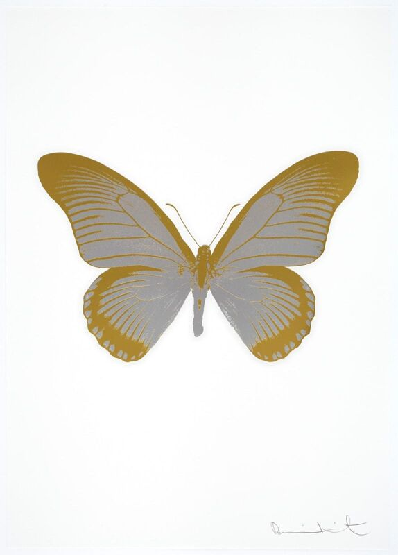 Damien Hirst, 'The Souls IV - Silver Gloss/Oriental Gold', 2010, Print, 2 colour foil block on 300gsm Arches 88 archival paper, artrepublic