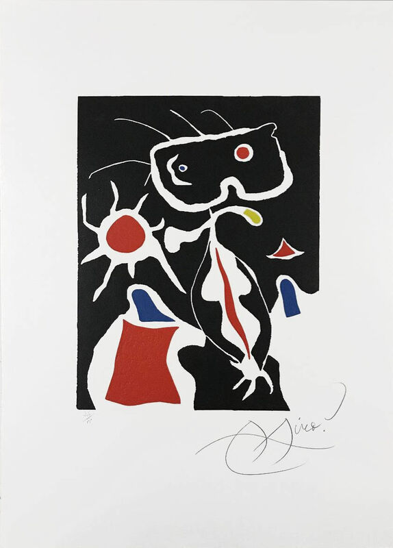 Joan Miró, 'Hommage a San Lazzaro, Pl. 3', 1977, Print, Linocut printed with intaglio over-printing in colors, Masterworks Fine Art